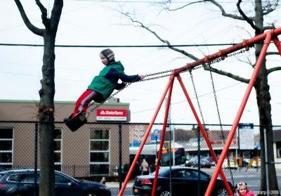 Swing acrobatics.