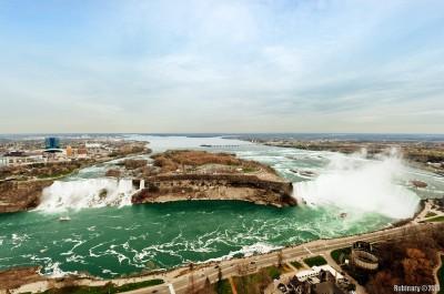 Niagara Falls. Both sides.