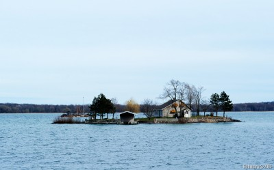 One of many islands on the river of Saint Lawrence.