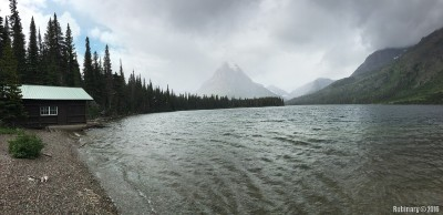Two Medicine Lake. Panorama.