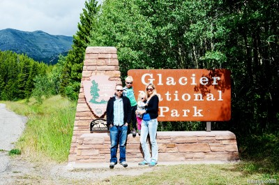 Entering Glacier National Park.