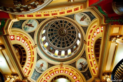Looking up into the dome.