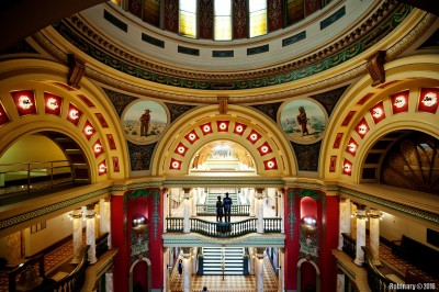 Inside the capitol.