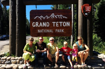Official Grand Teton National Park sign.