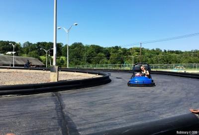 Go-karts! Alёna's driving Anna.