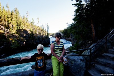 Brink of the Upper Falls trail.