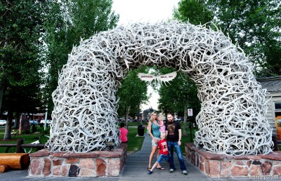 Antler arches at Jackson Hole.