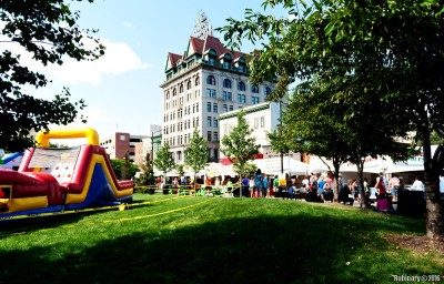 Italian festival at downtown Scranton.