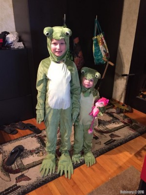 Our Halloween frogs.