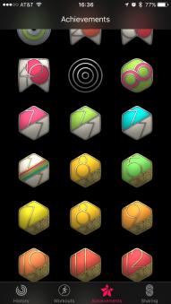 Activity app medals.