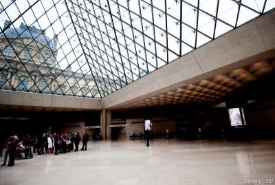 Louvre lobby.