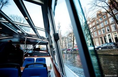 On Heineken boat.