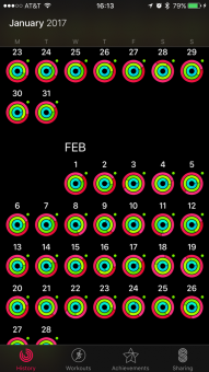 Activity app. Filling in the circles.