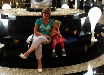 Anna with grandma.