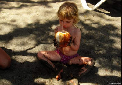 Anna with coconut. By Boris R.