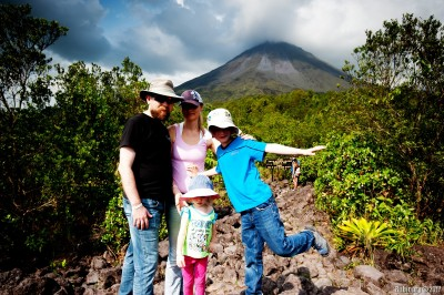 Lava fields by Arenal Volcano.