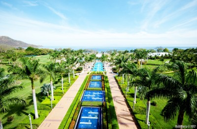 Riu pools from the top floor.