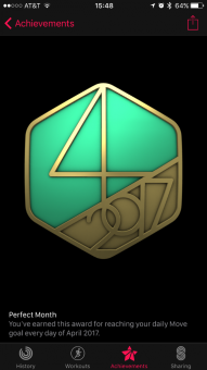 April move goal medal.