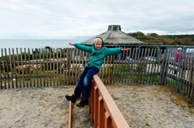 Balancing at Nauset Beach.