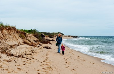 Hike at Herring Cove Beach. Windy.