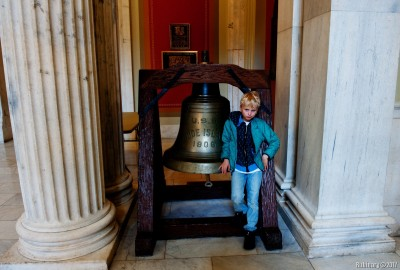 Arosha with Liberty Bell.