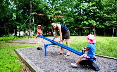 Nearby playground.