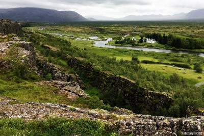Continental rift between the North American and Eurasian plates.