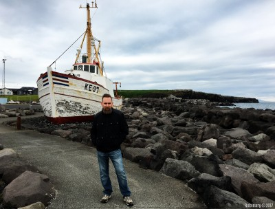 Old fishing boat in Keflavik.