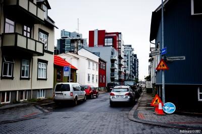 Streets  of Reykjavik.
