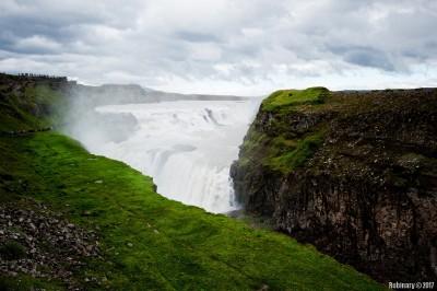 Enormous Gullfoss waterfall.