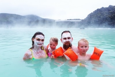 Blue Lagoon and silica masks.