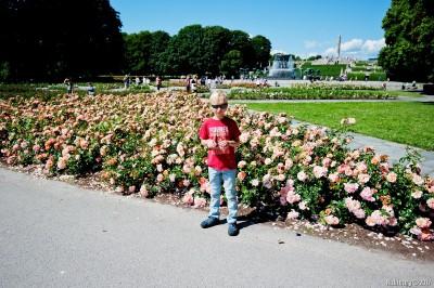 At Vigeland Park.