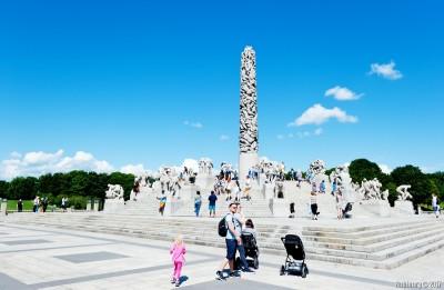 Vigeland Park. Monolith.