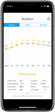 Weather Line. Hasn't yet been updated for iPhone X app.