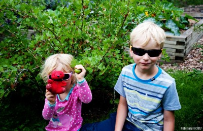 Kids at Botanical Garden.