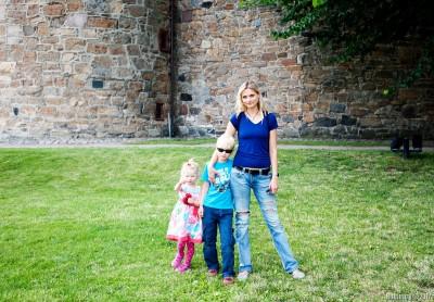 Inside Akershus Fortress.