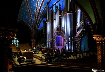 Top seats by the organ.
