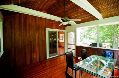 Covered, screened porch.