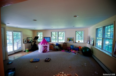 Bottom floor living room -- play room for the kids.