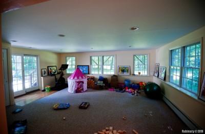 Bottom floor living room -- play room for the kids.