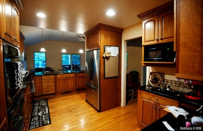 Our kitchen with granite counter tops.