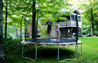 Our brand new trampoline. Kids love it.
