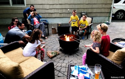 Kids marshmallowing.