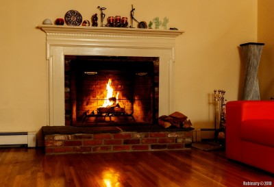 Our first use of our wood burning fireplace.