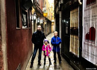 Tiny streets of Venice.