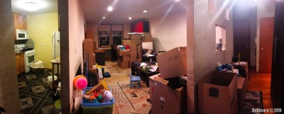 These are the last days in our apartment. All our stuff is packed and ready to be moved. What a mess!