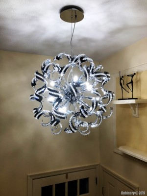 Entrance chandelier installed. Beautiful.