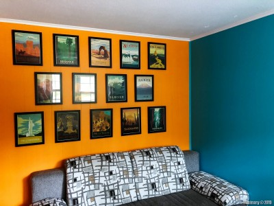 We took this chance and repainted the office. For some reason I wanted to have orange teal theme for a long time. I think it came out great. Very cozy. Love it.