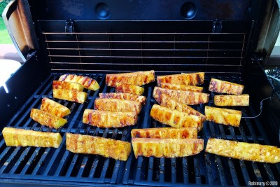 Grilled pineapple.