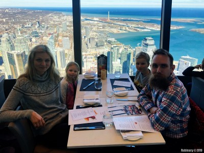 Dinner at CN Tower.
